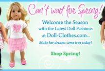"""Spring doll clothes by Sophia's® for 18"""" dolls for American girls / Spring into action with flouncy skirts and fantastic knits, then leap into summer with bright colors and fresh floral prints by Sophia's®! All products fit 18 inch dolls, like American Girl®, Gotz®, and Corolle®, Not Affiliated."""