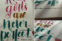 own lettering