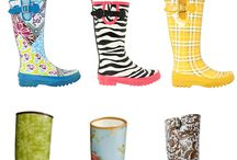 love me some pretty rain boots