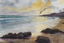 Landscape Watercolours / landscapes from Australia and Africa