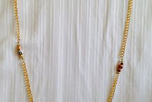 Gold Paper necklace earrings set made paper beads. by Medita1craft