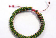 bracelets / wire / string crafts I ve made