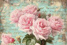 Vintage printables flowers