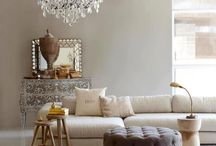 In Neutral / living spaces in combos of cream, white, beige, greige / by Vickie Danley