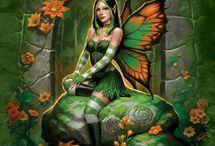 Fantasy . Dragões e elfas / Fantasy