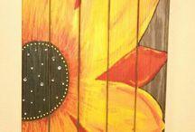 ζωγραφική σε ξυλα