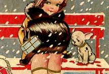 Xmas/Winter Vintage Cards
