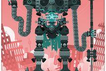 Robot * THE R0B0POCALYPSE * / Robots Doom Machines Evil Bots Apocalypse Cyborgs Destroy