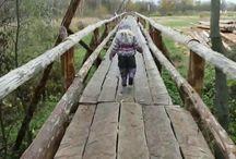 Киржач. Типографский мост - самый длинный деревянный мост в России ... и утки ...