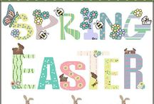 Cute Easter Spring Graphics Digital Clipart