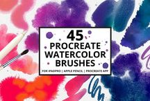 Procreate Brushes / Procreate brushes for the iPad lovers out there. #procreate