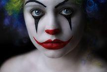 face paint clown