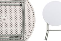 Mesas Plegables / Folding Tables / Temas relacionados con las mesas plegables. All about folding plastic tables.