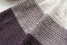 Hæklede og strikkede håndklæder og klude