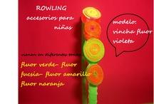 vinchas fluor con botones / by DISEÑOS ROWLING