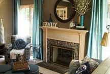 Teal and tan rooms