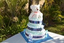 Blue-Red-White Stars Diaper Cake