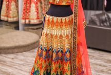 Colourful lehengas