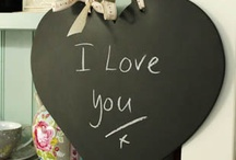 Cool stuff to buy / Gorgeous hand made heart shaped chalkboards and noticeboards
