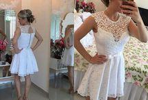 Vestido de noiva casamento cartório