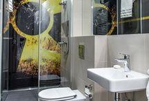 Prysznic w łazience / Aranżacja wnętrza łazienki z prysznicem