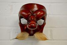 Leather Commedia dell'Arte Masks