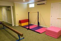basement gymnastics