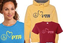 PTA Logo Apparel / Fount at our online store, here is some of our collection of PTA T-shirts, sweatshirt, aprons and caps.
