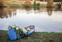 Dusty Blue Mountain Themed Wedding
