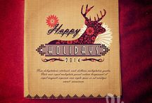 Christmas greeting card template designs 2014 / A collection of my latest Christmas card greeting design templates for 2014. Available on iStockphoto.com in vector format.