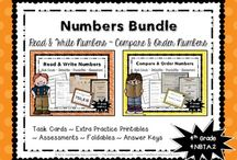 Math - Numbers / Ideas and inspiration for teaching elementary students basic concepts about numbers in the base-ten system.