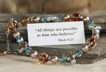 Swarovski Crystal & Freshwater Pearl Faith Based Jewelry / Swarovski Crystal & Freshwater Pearl Faith Based Jewelry - Necklaces & Bracelets