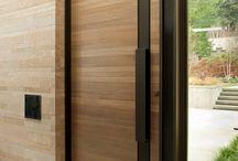 Steel blades for front facades / Front door