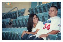 Dodgers Stadium engagement sessions. / Engagement Session by Gloria Mesa Photography. One of the most magical places in earth.