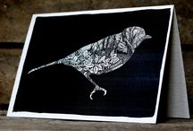 Bird designs / I enjoy drawing birds and this comes through in the greeting card designs I choose to produce. Here are some of my favourite bird illustrations and artwork, by me and other artists.