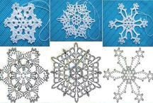 fiocchi di neve , angeli e decorazioni natale