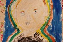 Kinder Kunst Club Atelier B&B / werkstukken van de kinderen bij de Kinder Kunst Club van Atelier B&B in Waalre