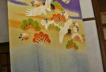 NOREN the japanese traditional curtain. / Exterior noren are traditionally used by shops and restaurants as a means of protection from sun, wind, and dust, and for display of shop name or logo.