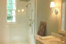 Master Bath / White, modern, glamourous