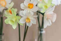Blommor av Papper,Filt,Tyg mm....