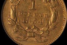 Type 2 Indian Princess Gold $1 / The first gold coins that circulated in the United States were foreign coins brought from Europe. The first official United States gold coins appeared in 1795, after the Coinage Act of 1792 established an independent monetary system with the dollar as the basic U.S. monetary unit. The first production of gold coins were the half eagles ($5) and the eagles ($10) in 1795. The mintage of early gold coins depended mainly on the capacity of the Mint and the existent supply of gold.  / by Executive Coin