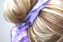 Сборка волос в пучок