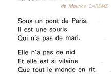 Français: poèmes, comptines ecc.