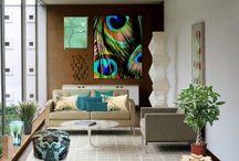 Peacock bedroom ideas / by Katrina Sutton