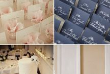 Wedding: Navy & Pink / Inspiration board for a pink & navy themed wedding