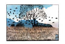 Art - Etchings, Linocut and Woodblock prints