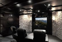 Kino / home theater space. Домашний кинотеатр.
