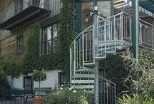 Gartenzugang Spindeltreppe