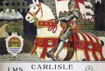 Vintage Cumbria - LMS / Vintage Cumbria scenes - LMS - north & west Cumbria railway posters