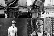 Environmental portrait photography Construction
